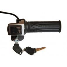 Ручка газа с индикатором заряда на 48v и замком зажигания