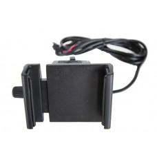 Держатель для смартфона с USB разъёмом на руль электротранспорта  c АКБ 36v – 100v