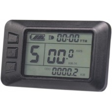 Дисплей LCD-7U+USB  для контроллеров KUNTENG на 24v,36v,48v