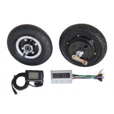 Электронабор: заднее мотор-колесо Volta 36v350w в литом ободе 8', переднее колесо 8', контроллер и LCD дисплей