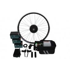 Полный электронабор с мини мотор-колесом  600/1000w в ободе 16'- 28' и аккумуляторами 36v13Ah
