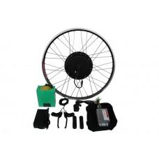 Полный электронабор с мотор-колесом 48v600/1250w в ободе 20'-28' и литий ионной АКБ 48v15Ah
