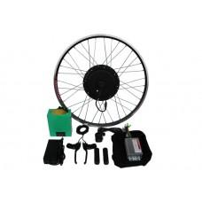 Полный электронабор с мотор-колесом 1000/2000w в ободе 20'- 28' и литий ионной АКБ 48v12.5Ah