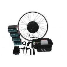 Полный электронабор с мотор-колесом 1000/2000w в ободе 20'- 28' и аккумуляторами 48v13Ah