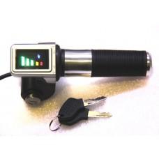 Ручка газа с индикатором заряда на 72v и замком зажигания