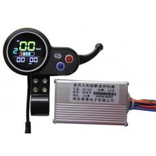 Контроллер  36-48v450w для электросамоката, с цветным LCD дисплеем и рычажной ручкой газа