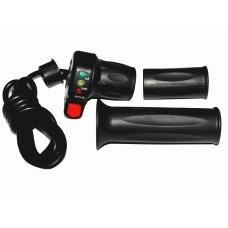 Ручка газа со светодиодным индикатором заряда на 48v и кнопкой круиз-контроля