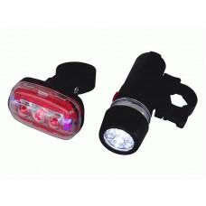 Набор светодиодный фонарик и стоп сигнал для велосипедов