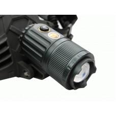 Aккумуляторный светодиодный фонарик  с сверхмощным светодиодом и  зумом с мотором