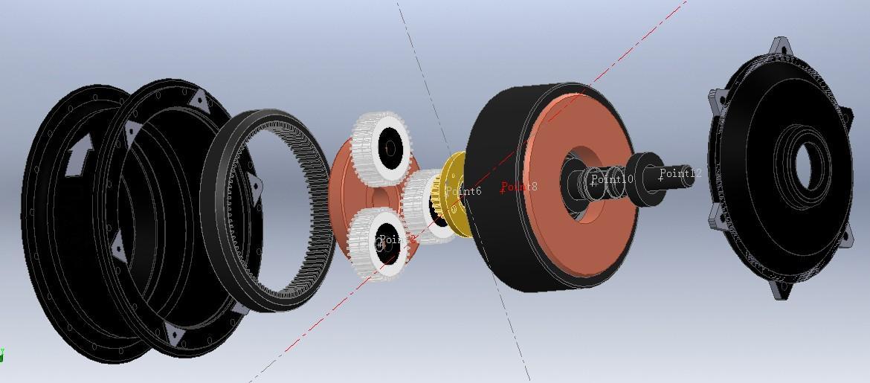 управления, мотор-колесо