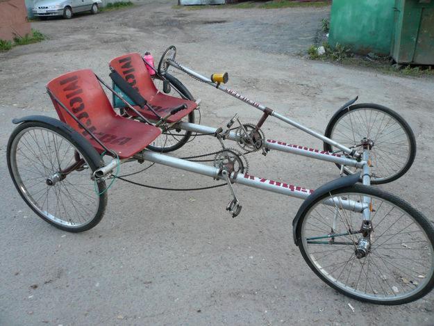 Веломобиль из двух велосипедов своими руками